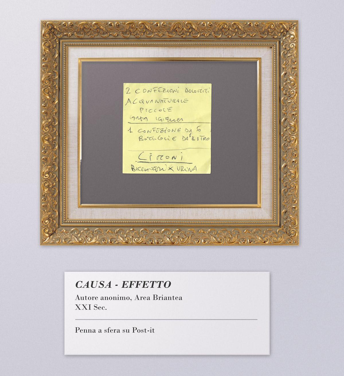"""Arte Listografica - """"Causa - Effetto"""""""