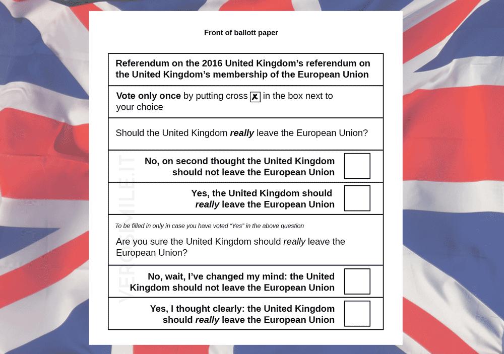 Brexit referendum ballot paper